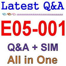 Best Exam Practice Material For EMC E05-001 Exam Q&A PDF+SIM