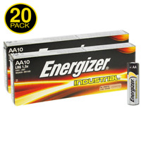 20 x Energizer AA Industrial Alkaline Batteries 1.5V LR6 MN1500 2027 expiry