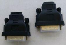 NOB 2x HDMI Female to DVI 24+1 Pin Male 5500 Adapter Converter HDTV LCD Black*B1