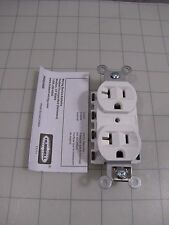 Hubbell SNAP5362WA SnapConnect Duplex Receptacle 20A 125V NEW