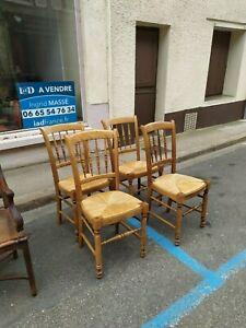 4 chaises Baumann 20 eme