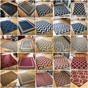 Anti Slip Flat Runner Rug Modern Kitchen Patio Indoor Outdoor Large Mat Free P&P