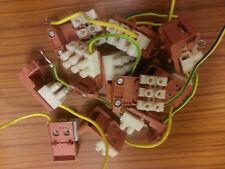 10 x bloc terminal avec câble de terre et câble clip vendeur britannique job lot 43mm chock