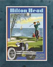 Hilton Head, SC (Framed) Art Deco Style Travel Poster -by Aurelio Grisanty