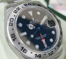 Rolex EXPLORER II 216570 Mens Stainless Steel Oyster 24HR Bezel Black Dial 42MM