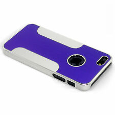 New Purple Aluminum and Plastic Hybrid Hard Case For iPhone 5 5S SE