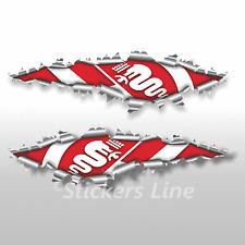 Adesivi ALFAROMEO effetto strappo stickers cm 100 adesivo alfa romeo logo alfa