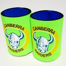 ARL CANBERRA RAIDERS Can or Stubby holders x 2. 1990's NSWRL -NEW!