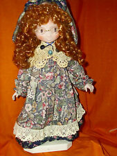 """RED HAIRED FRECKLED DOLL 20""""   WITH GLASSES"""