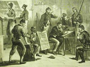 1st ISSUE LOYAL GEORGIAN NEWSPAPER OFFICE 1865 Art Matted