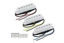 Set of White Single coil pickups SSS Stratocaster - Set de pastillas SSS blancas