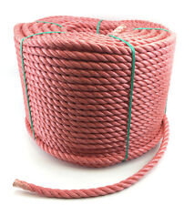 6MM ROSSO polipropilene corda x 20 metres, Poly rotoli, ECONOMICI Nylon
