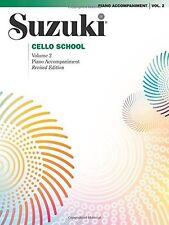 SUZUKI CELLO SCHOOL VOLUME 2-PIANO ACCOMPANIMENT REVISED EDITION BRAND NEW SALE!