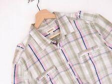 J2111 Diesel Camisa Top Original Premium Vintage Descolorido de Cuadros Talla XL