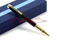 Waterman Perspective Kugelschreiber Ballpoint Pen Lack schwarz Golden Line Neu