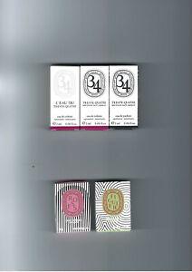 Diptyque 3 x 2 ml Parfumproben trente-quatre 34 und 2 Duftsteine figuer + roses