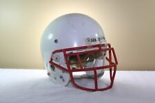 Schutt Game Used Worn Youth Advantage Football Helmet White Egop Mask Medium 58