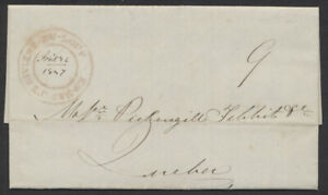 1847 Riviere-du-Loup En-Bas LC Double Circle On SFL, 9d Collect to Quebec