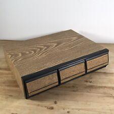 CASSETTE STORAGE BOX - 3 DRAWERS