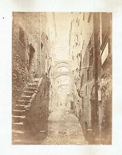 1870s Sanremo, Italy Street Scene. 1870s albumen Photograph by Petro Guidi