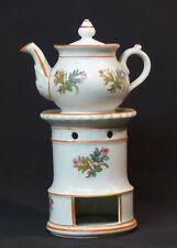 A très belle tisanière ancienne 26cm porcelaine fine de paris décor floral  thé