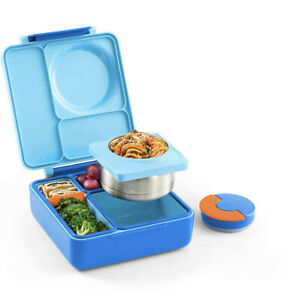 OmieBox Bento Box For Kids - Insulated Bento Lunch Box Leak Proof Thermos Jar