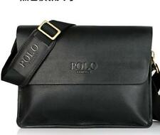 Mens DESIGNER Classic DISPATCH Bag Messenger Faux Leather Fathers Day Gift Idea Black Vertical Large