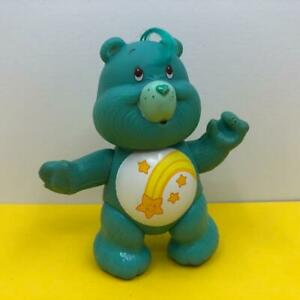 Vintage Care Bears Wish Bear Blue Poseable Toy Action Figure 1980s