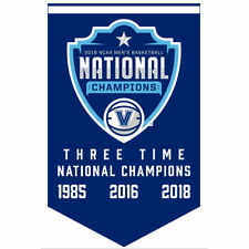 Villanova Wildcats Three Time National Champions Banner and Collectible