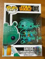 Paul Blake Signed Star Wars Greedo Han Shot 1st OK! 07 Funko Pop - JSA NN27963