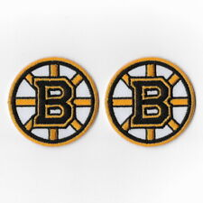 2X NHL Boston Bruins Iron on Patches Embroidered Patch Badge Applique Emblem