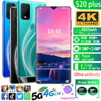 "6.7"" S20 Plus Andriod 9.1 Drop Screen 8+512GB Mobile 4G LTE 5G Smartphone+Case"