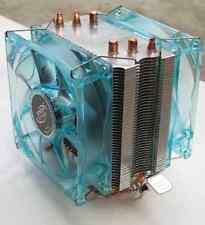 Heatpipe CPU Cooler with 2 x LED Fan for LGA775 1155/1156 AMD CORE i3/i5/i7 etc