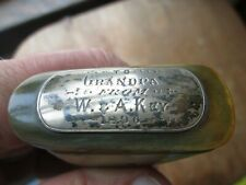 Antique Unusual  Mechanical - 1896 PRESENTATION - HORN - SNUFF BOX   #5