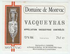 Wine label Domaine de montvac vacqueyras