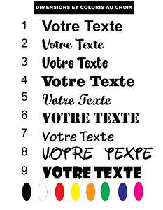 Sticker Texte  Autocollant signaletique personnalisé  Adhesif Véhicule  Deco