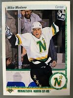 MIKE MODANO 1990-91 UPPER DECK ROOKIE CARD #46 RC NEAR MINT