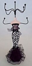 Jewelry Stand Rack Organizer Display Black White Mannequin Cheetah Dress