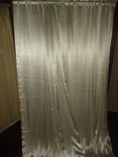 CHRIS MADDEN LIGHT GOLD/IVORY SATIN CRINKLED PLEATED (PAIR) DRAPERY PANELS 55X88