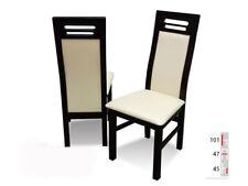 Bois Massif Chaise de Salle à Manger Design Cuir à K65