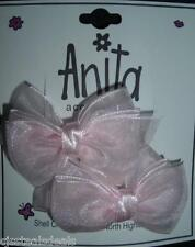 NWT 2 PC Set Girls Pink Hairbow Barretts