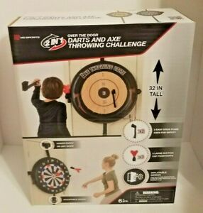 """MD Sports 2 In 1 Over the Door Axe & Dart Throwing Challenge 32"""" Tall Inflatable"""