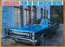 1967 AMC Ambassador & Marlin sales brochure catalog pamphlet folder Rothbury, MI
