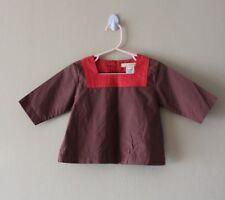 NWT Egg + Avocado Girls Kimono Top Long Sleeve 100% Cotton Button back Sz 2T