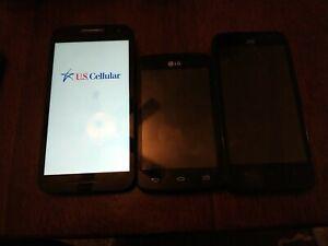 LOT OF 3 PHONES FOR PARTS OR REPAIR