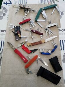 12 Taschenmesser u. Arbeitsmesser Konvolut Sammlung