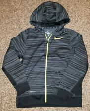 Nike Therma-Fit Boys Youth Zipper Front Hoodie Jacket XL Gray Black