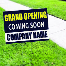 Grand Opening Coming Soon Plastic Novelty Indoor Outdoor Coroplast Yard Sign