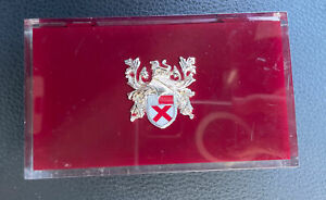 Vintage Lady Elgin Durapower Coat of Arms Lucite Watch Presentation Box only