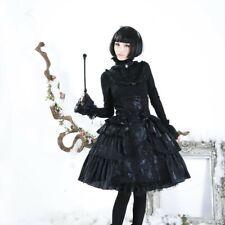 Pyon Pyon High Waisted Rok Zwart Gothic Victoriaans Lolita Dolly Kei LQ-028